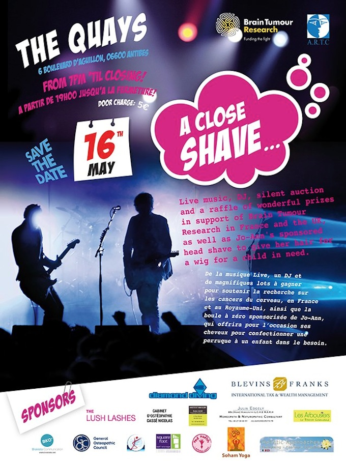 A Close Shave in Antibes - see you there!
