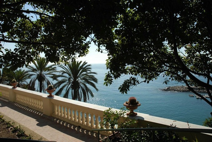 The Mediterranean coastline at Bordighera