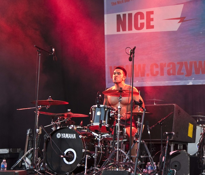 Drummer at the ready at Crazy Week 2013