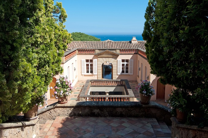 The terrace of the villa in Set. Maxime available through Home Hunts