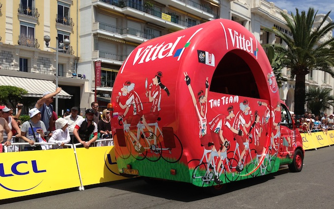 Vittel wagon in Nice for Tour de France