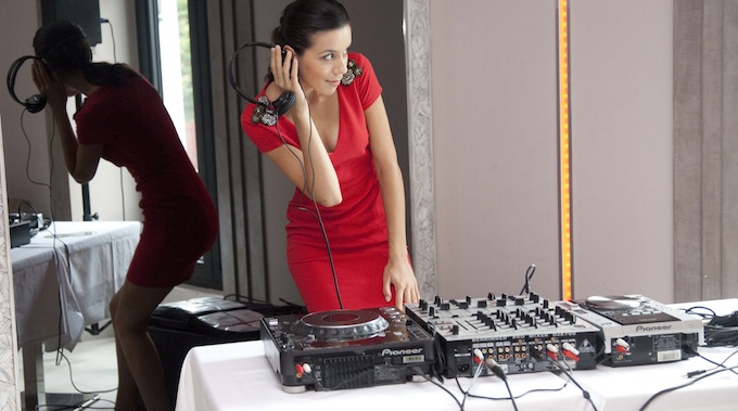 Adina the DJ at Villa Garibaldi
