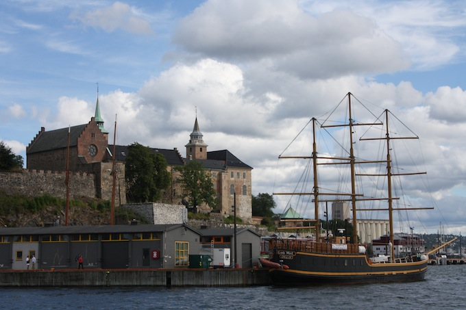 The Akershus Fortress in Oslo in Norway