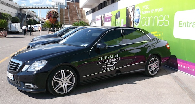 Mercedes-Benz car at Cannes Yacht Show 2013