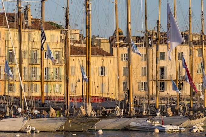 Quayside at Les Voiles de Saint-Tropez in the South of France