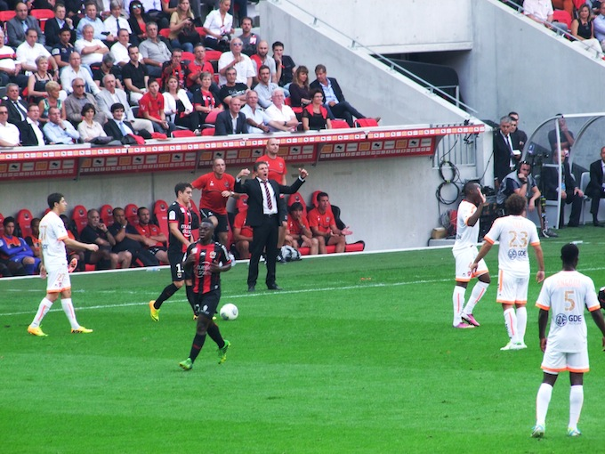 Sideline action from OGC Nice match in Allianz Riviera stade