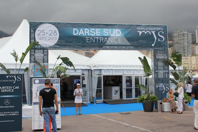 Welcome to a very dark looking Monaco Yacht Show 2013!
