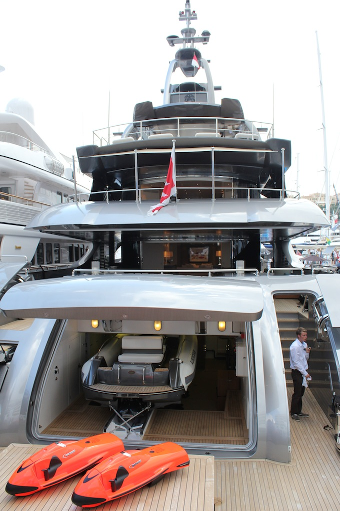 You can fit a lot into a megayacht! Monaco Yacht Show 2013