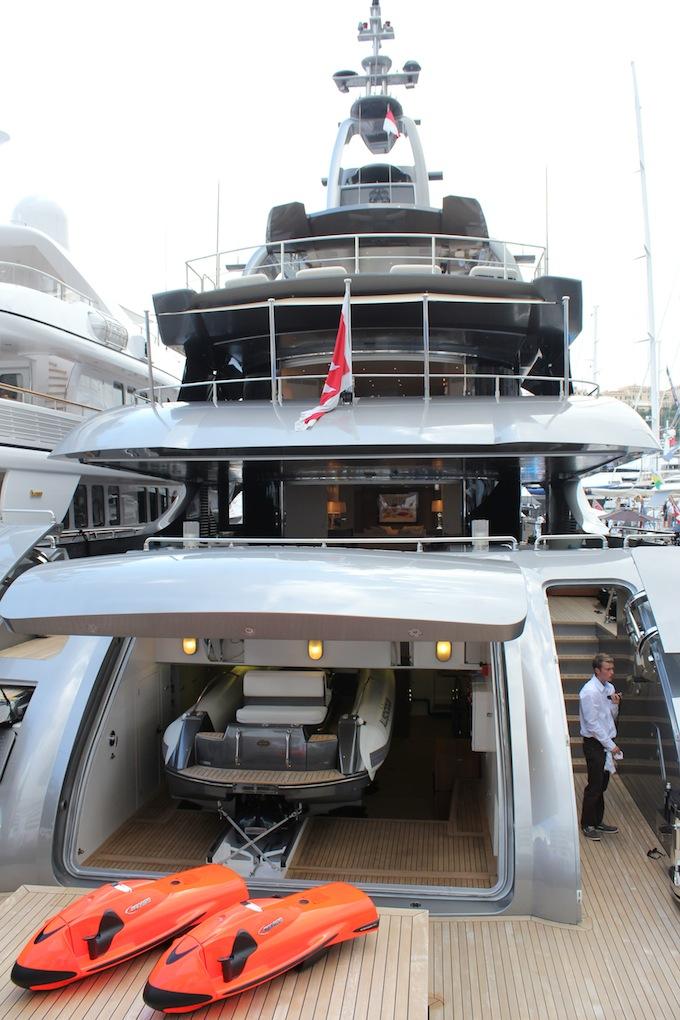You can fit a lot into a megayacht! Monaco Yacht Show 2013