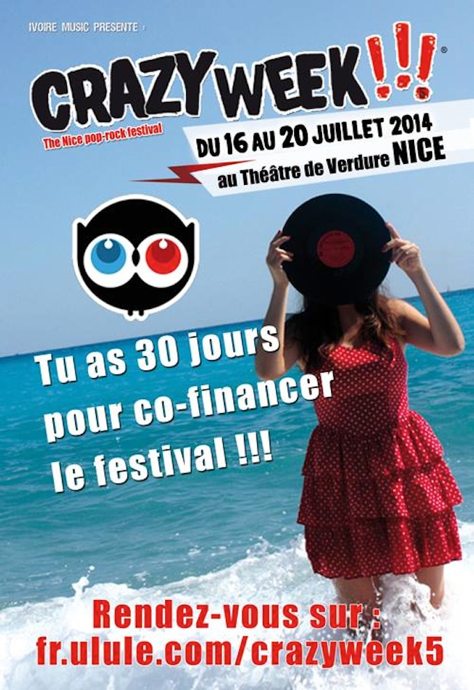 Ivoire Music are looking to crowdfund the 2014 Crazy Week festival in Nice