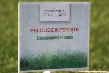 Keep off th egress! Promenade du Paillon in Nice