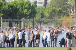 Crowds at the opening of the Promenade du Paillon in Nice