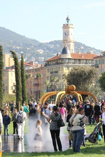 Family fun at the Promenade du Paillon opening in Nice