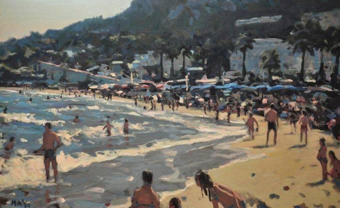 Seaside art work by Mitch Waite