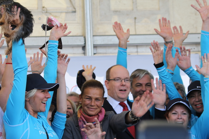Prince Albert and Princess Stéphanie at No Finish Line 2013 in Monaco
