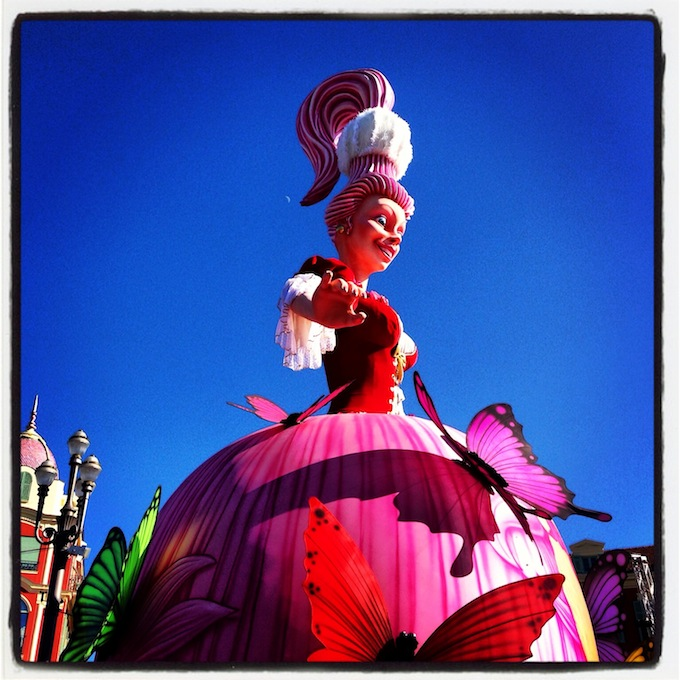 The Queen of Carnaval de Nice 2013 in Place Masséna