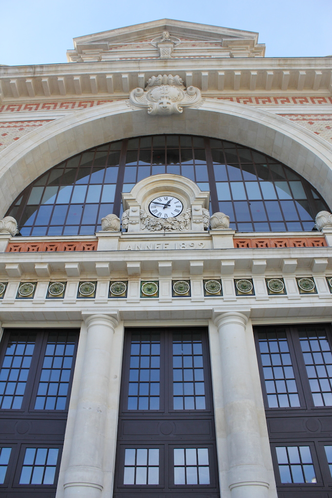 The newly refurbished facade of the Gare du Sud in Nice