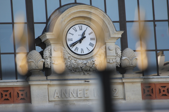 The clock at Gare du Sud in Nice