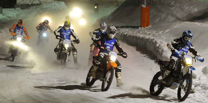 The motorbike event at Trophée Andros