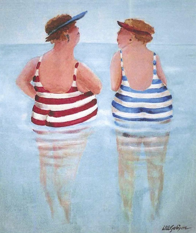 Beach bathers by Ulli Gabison