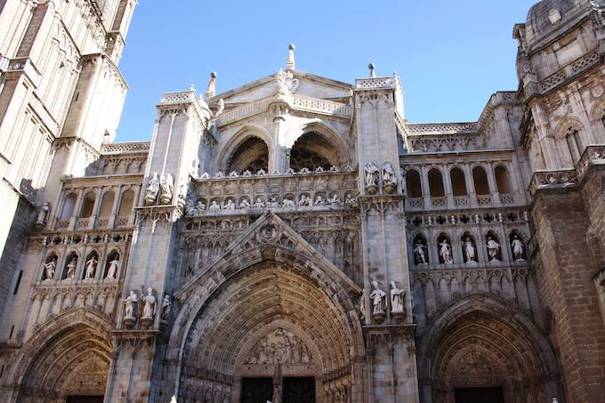 The cathedral in Toledo, Spain
