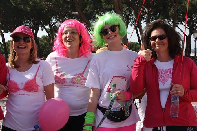 Attendees at the Pink Ribbon Monaco walk 2014