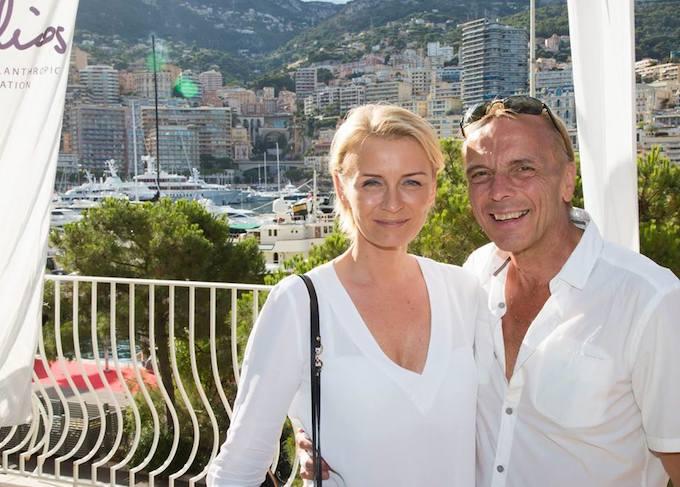 Monaco Air League co-founder Mike Colquhoun and friend