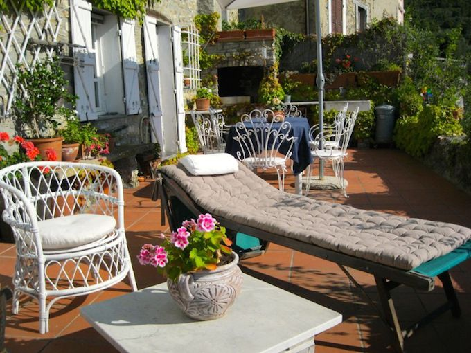 Terrace of Country House in Villalunga