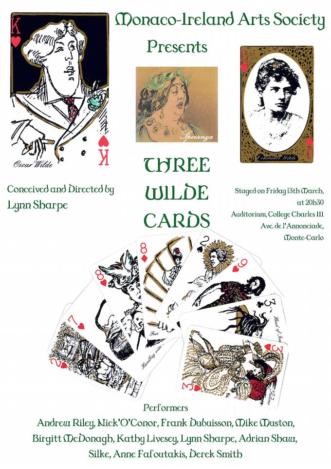Three Wilde Cards by Monaco-Ireland Arts Society