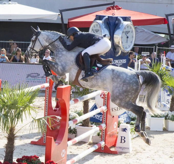 Showjumping action from Monaco