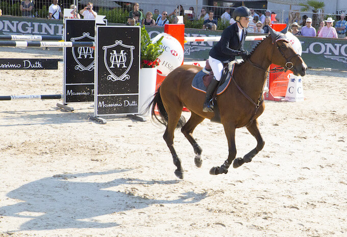 Showjumping action from Port Hercule in Monaco