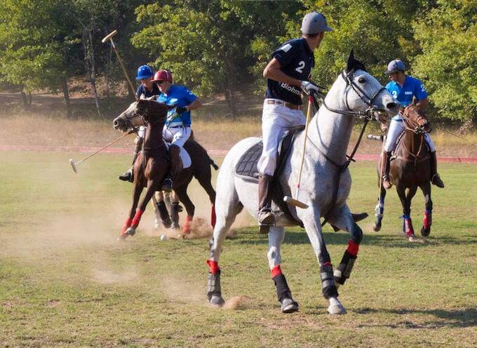 Polo action from Callian in the South of France 2014 © Mike Colquhoun www.ateliermike.com