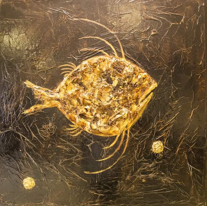 Fabio Pietrantonio Fish at Acupuncture exhibition in Monaco