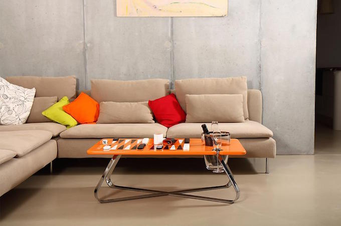 The Orange Line Deluxe Backgammon Table suits all locations