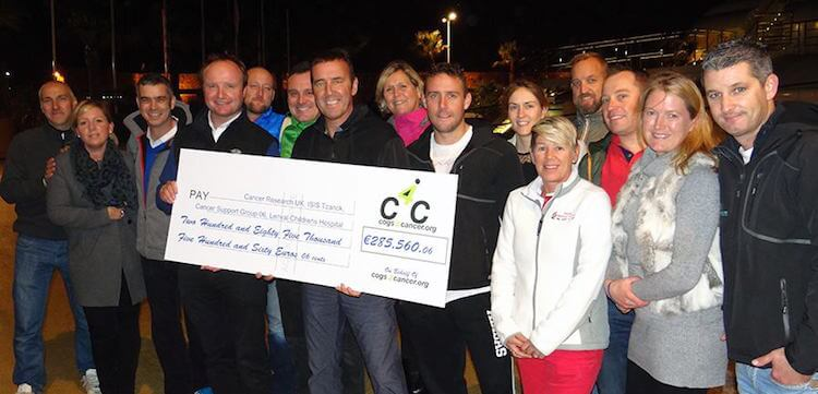 Fundraising cheque COGS4CANCER