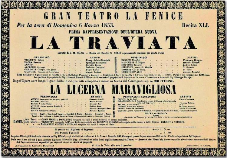 La Traviata in Venice 1853