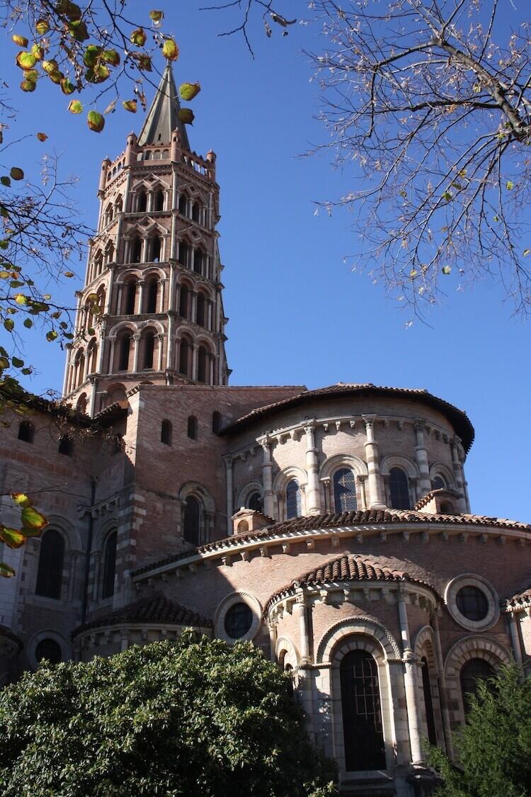 Saint-Sernin basilica in Toulouse