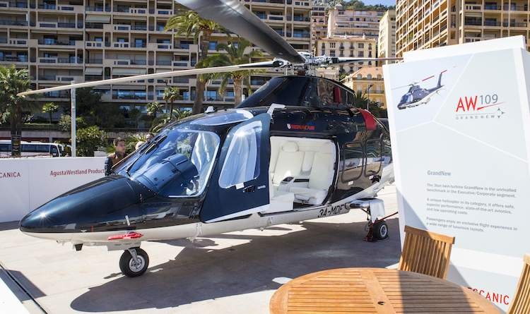 Helicopter at Top Marques Monaco