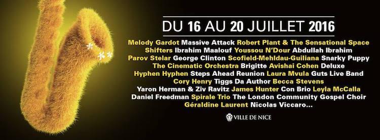 Nice Jazz Festival 2016 lineup