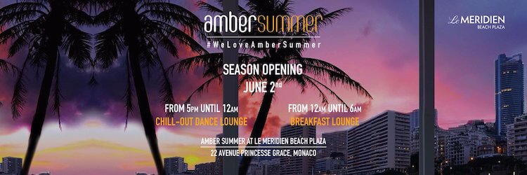 Amber Summer launch party banner