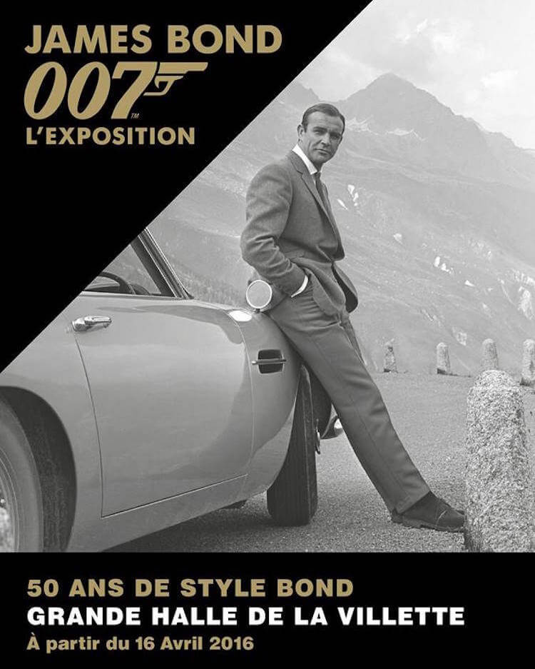 James Bond 007 exhibition in Paris