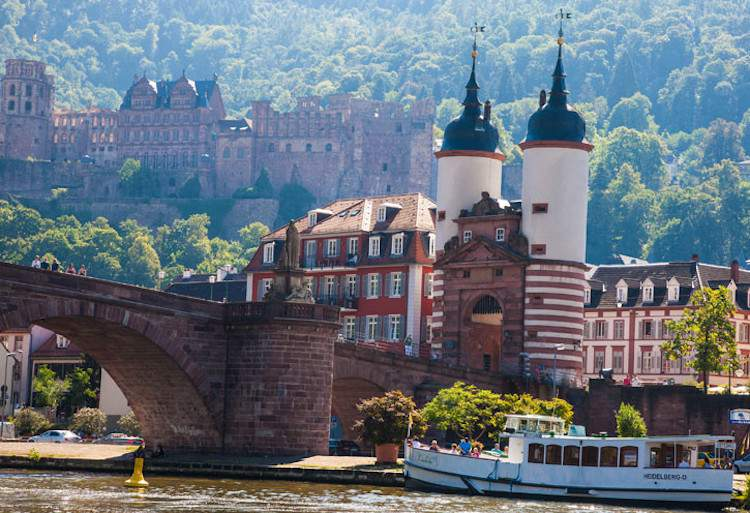 Bridge over Neckar River in Heidelberg