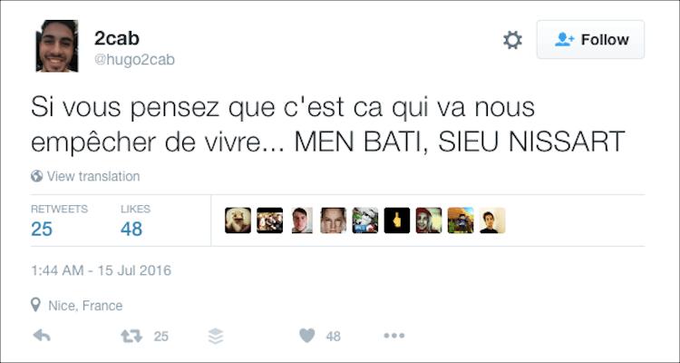 M'en bâti dieu Nissart tweet
