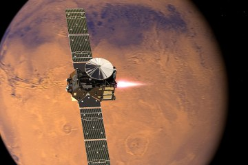 ExoMars approaching Mars courtesy European Space Agency