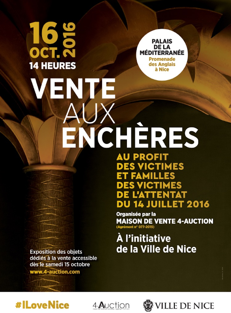 Auction in Nice for 14th July attacks poster