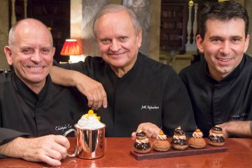 Chefs Robuchon, Cussac, Mesiano at Hotel Metropole