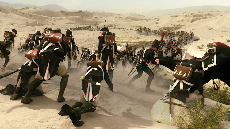 Napoléon marches through Egyptian desert
