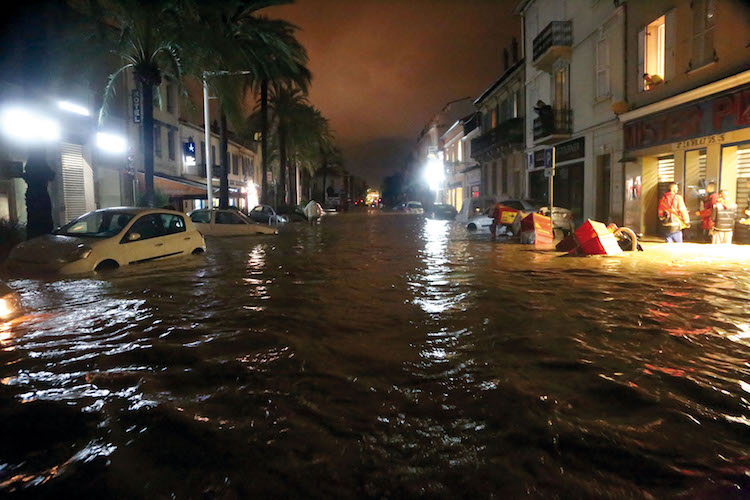 Flooding in Cannes