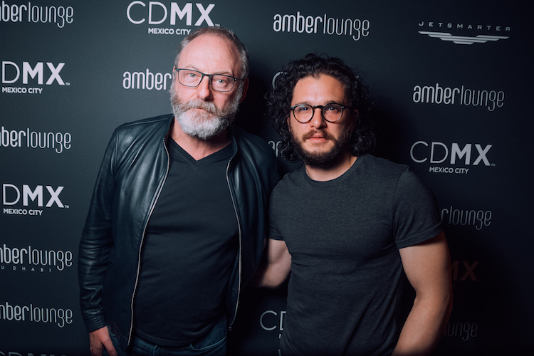 Liam Cunningham and Kit Harington @ Amber Lounge Monaco