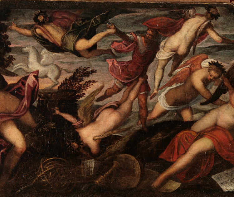 Tintoretto - Apollo e le muse (part)